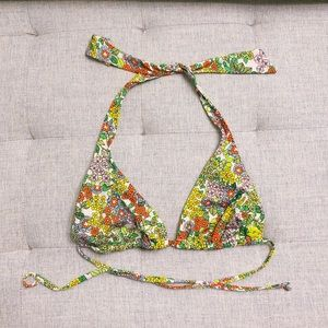 Billabong triangle flower string bikini top small